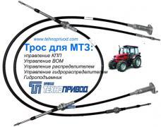 Троси дистанційного керування: кпп,тнвд,гст,газу гальма;автоб